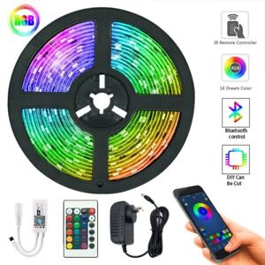 20M LED Light Strips Bluetooth WIFI Remote RGB 5050 Decoration BackLight Lamps