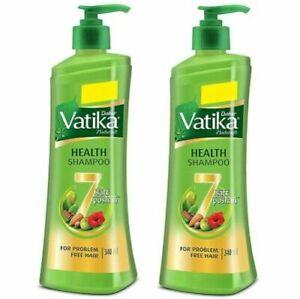 Vatika Health Shampoo, 340 ml (pack of 2) free shipping world