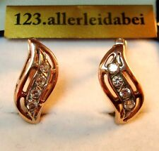Zauberhafte Rotgold Ohrringe 585 er Gold Ohrhänger mit Stein / BA 615