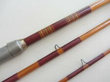 Vintage Bamboo 9' Bass Casting Rod w/ Tunnel Guide and Agate Tip Top