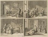 CHODOWIECKI (1726-1801). Triebe und Neigungen der Menschen; Druckgraphik