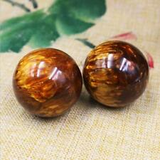 2PCS Genuine Sea Willow Ball Cure the Handball Healing Golden Black Coral 50MM