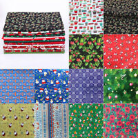 Christmas Cotton Fabric Santa Snowman Floral Patchwork Clothing Sewing DIY Craft