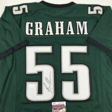 Autographed/Signed BRANDON GRAHAM Philadelphia Green Football Jersey JSA COA