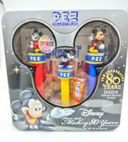 """Disney """"Mickey 80 Years"""" PEZ Collection 2007 PEZ Collectibles, Sealed"""