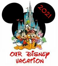 **DISNEY FAMILY VACATION 2021 **MICKEY MOUSE CASTLE**T-SHIRT IRON ON TRANSFER