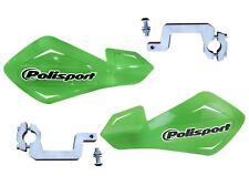 Polisport Green Hand Guards Alloy Brackets fits Kawasaki KLR650 C1-C8 95-03