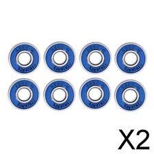 2X 8 608rs ABEC-11 Skateboard Bearing 8mm Longboard/Inline/Hockey/Roller Blue