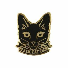 Chat Noir Club Revers Broche Badge / Mignon Félin Crazy Lady Cadeau Neuf /