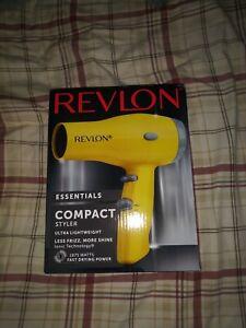 Compact Hair Dryer Heat Professional Blow Fan Cool Shot Styler Anti Slip Bumper