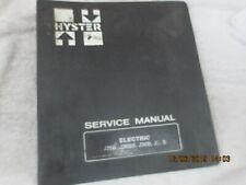 Factory Oem Hyster Electric J25b J30bs J30b Forklift Lift Truck Service Manual