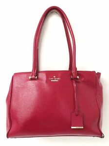 Kate Spade Red Patent Leather Satchel Purse *Repair*