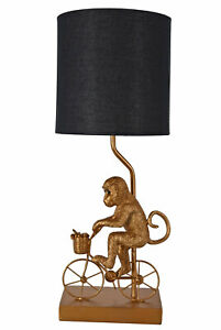 Table Desk Lamp Cyclist Monkey Gold Table Lamp Monkey Bedside Lamp Light 54cm