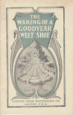 The Making of a Goodyear Welt Shoe, 1904 St. Louis World's Fair Exhibit booklet
