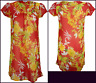 RED/ORANGE UK 16/18 Semi sheer Chiffon Floral Kaftan CoverUp beach/lounge Dress