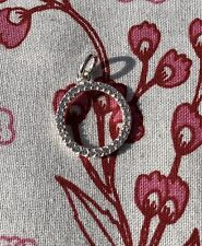 Sterling Silver CZ Open Circle Charm