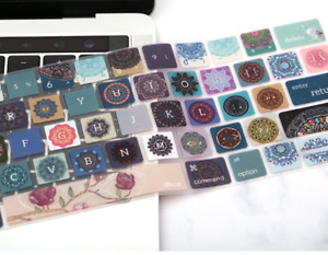 Silicone Keyboard Cover Skin for MacBook Air Pro 13 15 Mac - Flower
