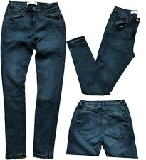NEW In! NEXT Ladies INKY BLUE Cotton Rich Mid Rise Skinny Jeans 6-20 R L XL P