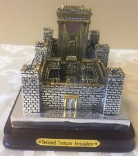 "Second Holy Temple Jerusalem - Israel Silver plate with gilding 6.5"" x 4.25"""