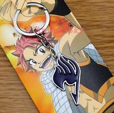 NEW Fairy Tail Logo Metal Keychain Key Ring Pendant Anime Gift Black AU