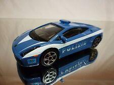 BBURAGO LAMBORGHINI GALLARDO - POLIZIA - POLICE - BLUE 1:43 - GOOD