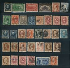 USA LOT OF 35 EARLY STAMPS MINT & USED !!  M2-02