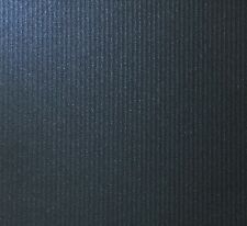 10 X A4 CARD DARK NAVY KINGS BLUE PEARLESCENT TEXTURED COLONNADE STRIPES 300GSM