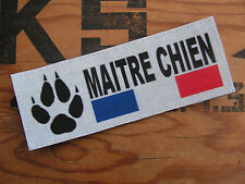 SNAKE PATCH - MAITRE CHIEN FRANCE - patte sécurité police gendarmerie HUMOUR