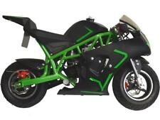MotoTec Cali 40cc Gas Pocket Bike Green 4-Stroke EPA Approved Chain Drive 13 +