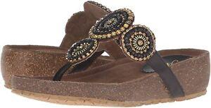 Spring Step Azura Women's Lori Thong Sandals, Dark Brown ( EU 39 / US 8.5 )