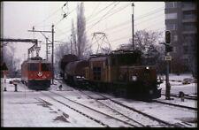 35mm slide+© RhB Rhätische Bahn Ge 6/6 I 415+Ge 4/4 II 616LandquartSwitzerland86