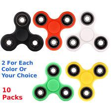 Wholesale Lot 10X Fidget Hand Tri Spinner Stress Reducer Desk Toy Finger Focus