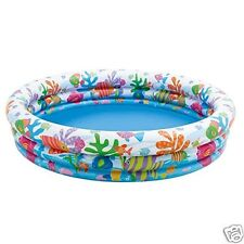 Pool HinchableTres Rings Fish of Colours Intex Measures: 132 x 28 cm 204