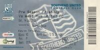 Ticket - Southend United v West Ham United 14.07.12 Pre-Season Friendly