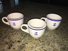 VINTAGE RESTAURANT WARE FOULED ANCHOR SET OF 3 DEMATASSE CUPS