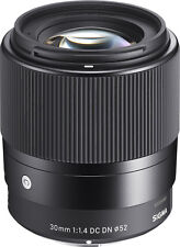 Sigma 30mm F1.4 Contemporary DC DN Lens for Sony E (Sigma 4 Year Warranty)