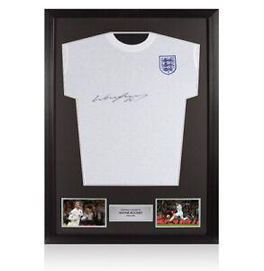 Framed Wayne Rooney Signed England T-Shirt Autograph