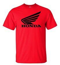 Honda Racing Motocross ATV T-Shirt Black Logo S-5XL Red Shirt Color