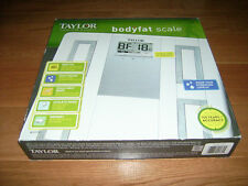 BRAND NEW TAYLOR BODYFAT & BODY WATER SCALE~BATHROOM SCALE~ATHLETE MEASUREMENT