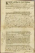 New Hampshire Deed, Rockingham County, Partially Printed, 1783, Solomon French