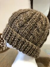 Easy Chunky Cable Pompom Hat Knitting Pattern Printed & Posted