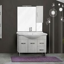 Mobile 85cm da bagno a terra 2 ante 2 cassetti specchio+pensile lavabo ceramica