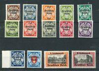 Deutsches Reich Michel-Nr. 716-729 ** postfrisch - Mi. 220,-