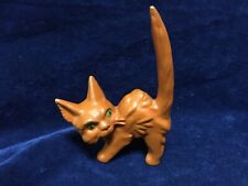 Stunning 100% Genuine Sylvac Rare Orange Cellulose Scaredy Frightened Cat 1046