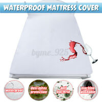 Waterproof Mattress Protector Cover Topper Pad Bedding Cover Against Dust Mite