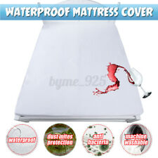 Waterproof Mattress Protector Cover Topper Pad Bedding Cover Against Dust
