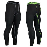 Mens Compression Pants Base Layer Long Leggings Fitness Gym Outdoor Sports F169