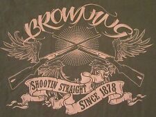BROWNING Shooting Straight Since 1878 Cotton T Shirt Size L