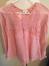 (Z10) Womens J Jill Xs Baby Doll Long Sleeve Shirt