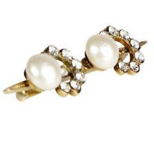 Vintage CHANEL BROOCH PIN spelling C O C O In Faux Pearls & Crystal RHINESTONES